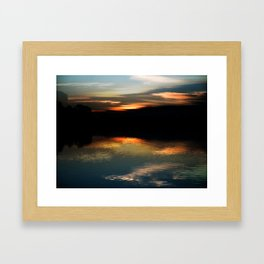 Concept : Water reflection Framed Art Print