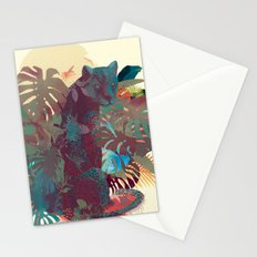 Panther Square Stationery Cards