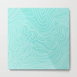 Ocean depth map - turquoise Metal Print