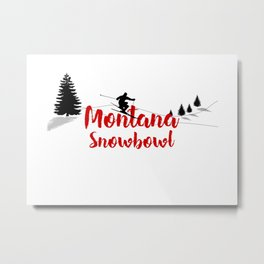 Ski at Montana Snowbowl Metal Print