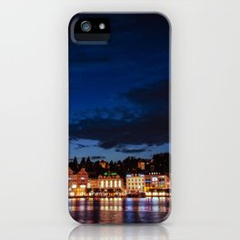 Lucerne by night iPhone Case