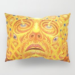 Golden Psychedelic Head Pillow Sham
