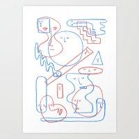 The Faces Art Print