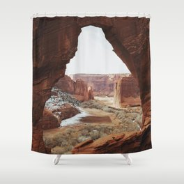 Window Rock Shower Curtain