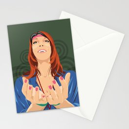 Hippy Girl  Stationery Cards