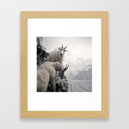 Hi, we are the mountain goats Framed Art Print