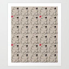 cats II Art Print