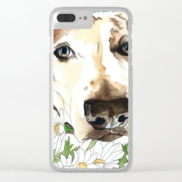 Watercolor Wildflowers & her Bestie Clear iPhone Case