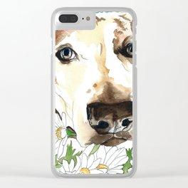 Watercolor Wildflowers & her Bestie Clear iPhone Case