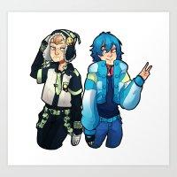dmmd Art Prints featuring DmmD Bromance  by lilbutt
