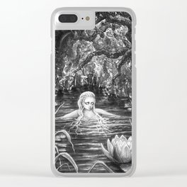 Water nymph Clear iPhone Case