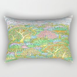 Middle of the forest Rectangular Pillow