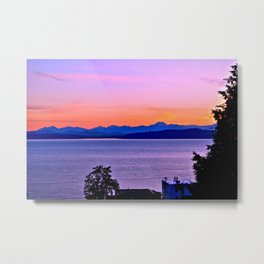 West Seattle sunset Metal Print