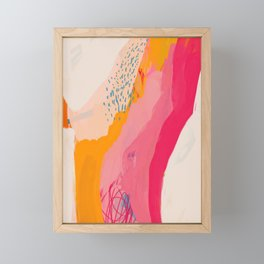 Abstract Line Shades Framed Mini Art Print