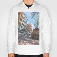 vancouver Hoodies featuring Downtown Vancouver  by Jody_Waardenburg