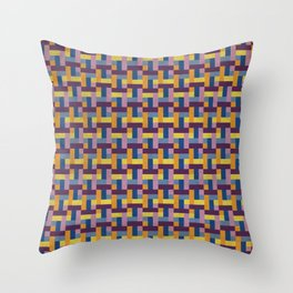 Woven Pixels V Throw Pillow