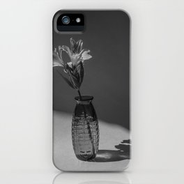 Shadow and flower iPhone Case