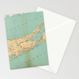 Vintage Map of Suffolk County NY (1895) Stationery Cards