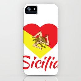 Sicilian Pride - Sicilia - I Love Sicily Trinacria iPhone Case