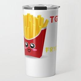 TGIF Thank God It's Fryday Cute French Fries Pun Travel Mug
