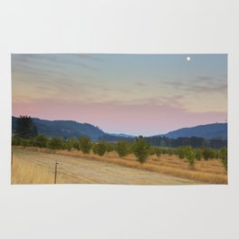 Full Moon over Orchard at Dusk Rug