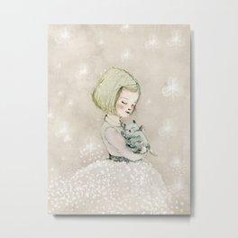 trebol, nursery decor girl Metal Print