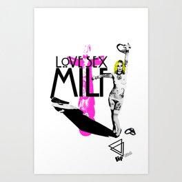 """Lip Bitch """"milf"""" by Javier Largen Art Print"""
