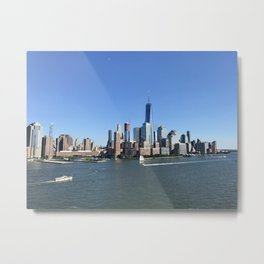 New York By Ship Metal Print