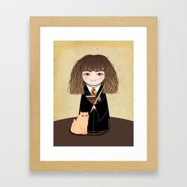 Kokeshi Hermi Framed Art Print