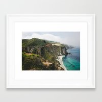 big sur Framed Art Prints featuring Big Sur by Nicole Leever