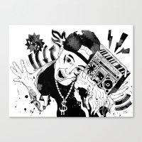 rap Canvas Prints featuring rap by Dagmara Jagodzinska