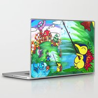 animal crossing Laptop & iPad Skins featuring Animal crossing invasioni  by Cristina Lunat Sugamele