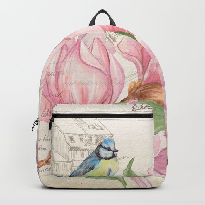 Macro flower #10 Backpack