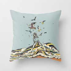 WALK ON THE OCEAN Throw Pillow