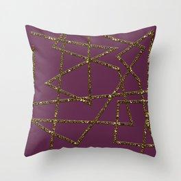 Progress (magenta) Throw Pillow