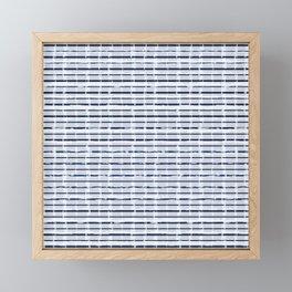 Denim Cloud Plaid 2 Framed Mini Art Print