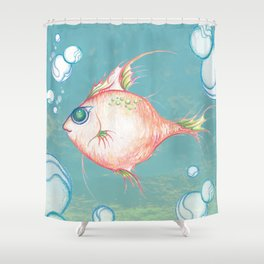 Pink Fish Dreams  Shower Curtain