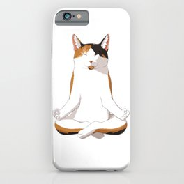 Yoga Calico Cat Gift Idea iPhone Case