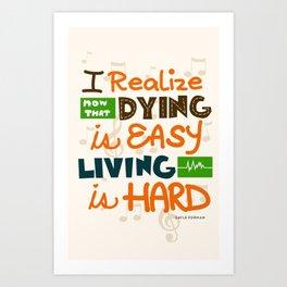 IF I STAY: I Realise Art Print