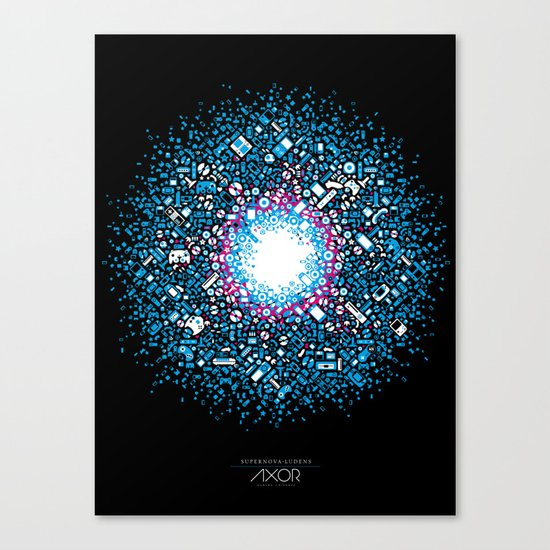 Gaming Supernova - AXOR Gaming Universe Canvas Print