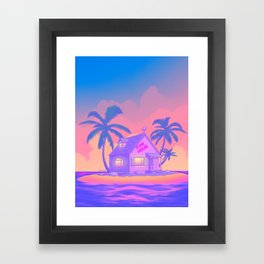 80s Kame House Framed Art Print