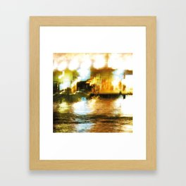 City Lights: Venice – Canal Grande – San Simeone Piccolo # 254 Framed Art Print