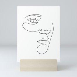 bt - face line Mini Art Print