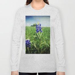 Texas Bluebonnet Flowers Long Sleeve T-shirt