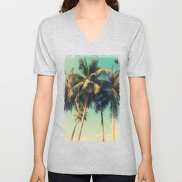 tropical trees in florida Unisex V-Neck
