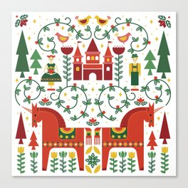 Scandinavian Inspired Fairytale Canvas Print