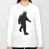 bigfoot Long Sleeve T-shirts featuring Bigfoot by Zombie Rust