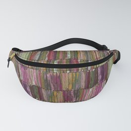 Colored Old Painted Wood Planks Fanny Pack