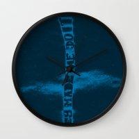 donnie darko Wall Clocks featuring Donnie Darko by Drew Wallace