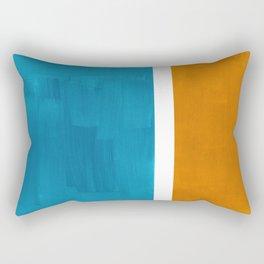 Rothko Minimalist Mid Century Modern Vintage Colorful Pop Art Colorfields Dark Teal Yellow Ochre Rectangular Pillow